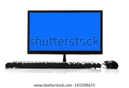 Desktop computer and keyboard and mouse