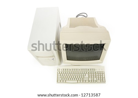 Desktop Computer close up shot - stock photo