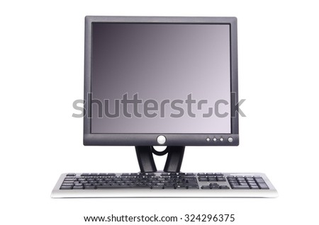 Desktop computer isolated on white