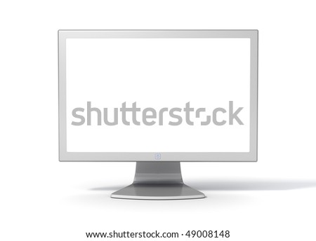 Desktop Computer Monitor -  Front (with clipping Path around screen and object) - stock photo