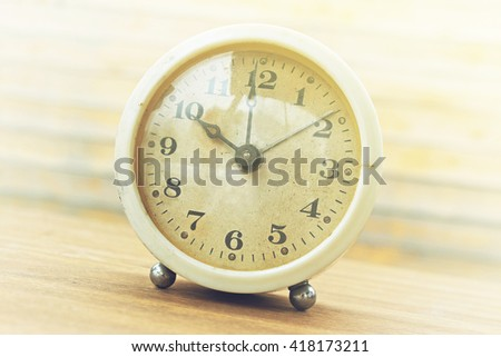 Desktop home watch on a wooden background