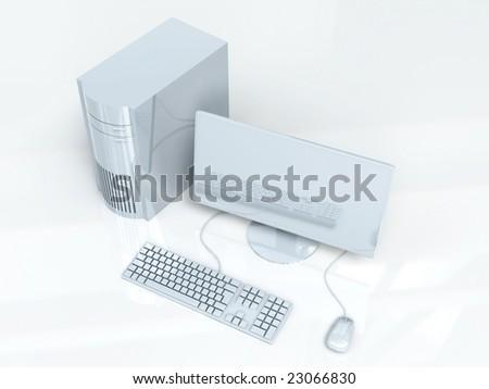 Desktop PC Setup - stock photo