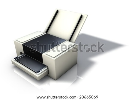 Desktop Printer - stock photo