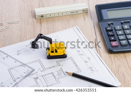 Mini digger stock images royalty free images vectors for Build your own home calculator