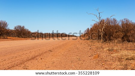 desolate scene in Australian outback this is in vicinity of Lawn Hill Queensland - stock photo