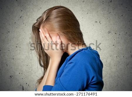Despair, anguish, adult. - stock photo