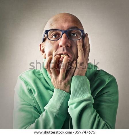 Desperate man - stock photo