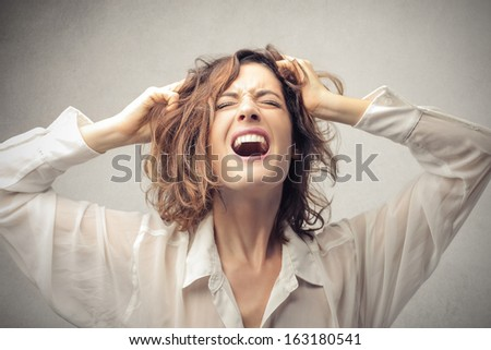 Desperate Woman - stock photo