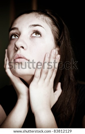 Desperate woman - stock photo