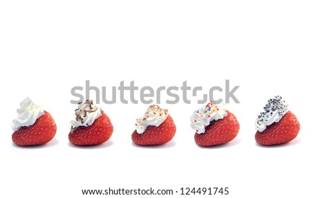 Dessert for your loved. Happy Valentine's Day - stock photo