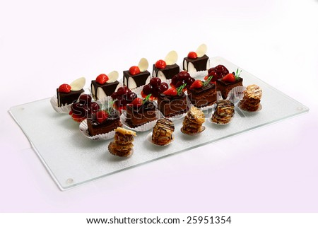 dessert fruitcake - stock photo