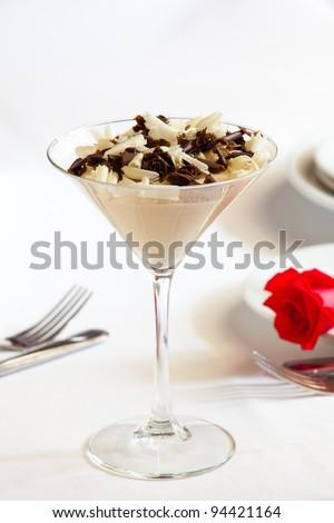 dessert on table - stock photo