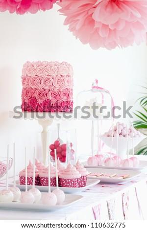 Dessert table - stock photo