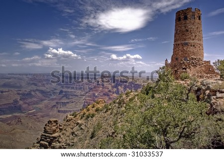 Dessert View, Grand Canyon National Park - stock photo