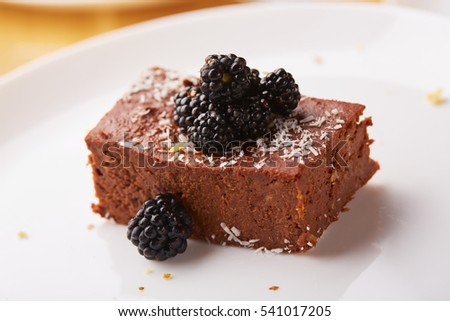dessert with blackberries