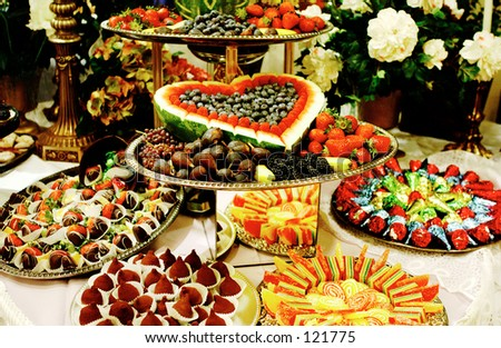 Desserts table - stock photo