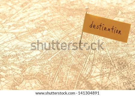 Destination - stock photo