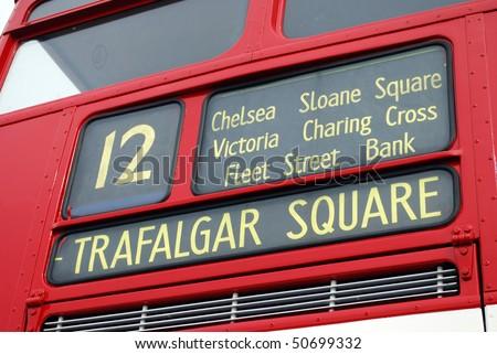 Destination Trafalgar Square - stock photo