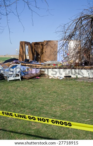 Destroyed by Tornado - stock photo