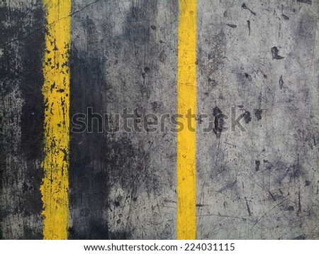 Destroyed grunge factory pavement texture - stock photo