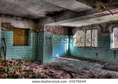 destroyed place - stock photo