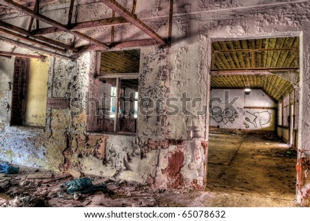 destroyed residence - stock photo