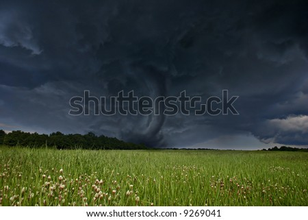 Destruction Force of Tornado - stock photo
