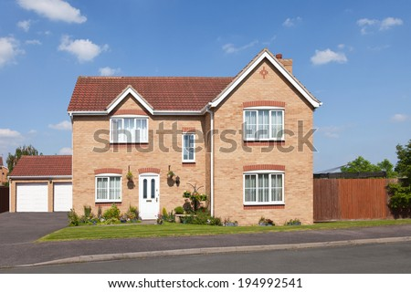 Detached house - stock photo