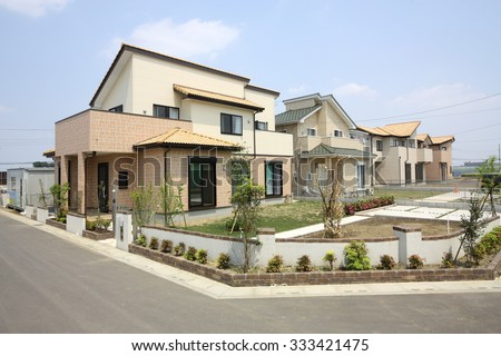 Detached houses image - stock photo