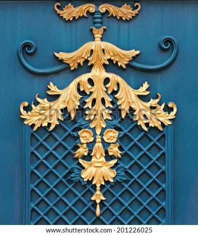 Detail Alloys gate fence patterns  - stock photo