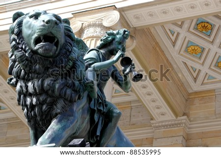 Detail at the Theater - stock photo