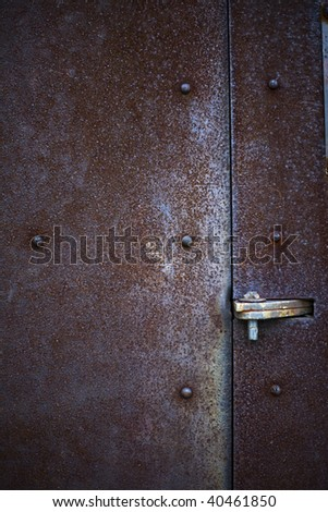 Detail close up of rusty metal door with hinge and studs & Rusty Door Hinge Rivets Stock Images Royalty-Free Images ... Pezcame.Com