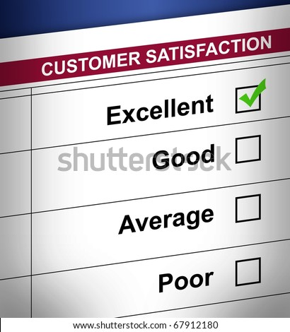 detail Customer satisfaction form. - stock photo
