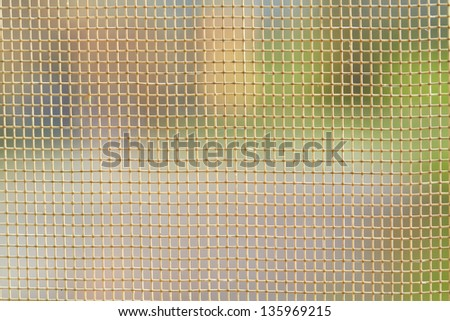 Detail Fishnet or mosquito netting - stock photo