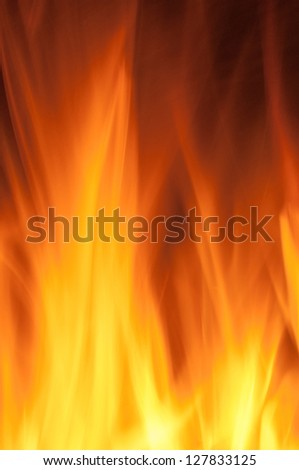 Detail flames for backgrounds and textures - stock photo