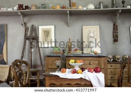 detail atelier cezanne aixen provence 08072013 stock photo royalty free 453771997 shutterstock. Black Bedroom Furniture Sets. Home Design Ideas