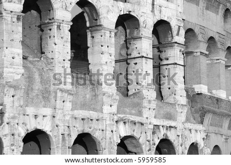 detail from colosseum,