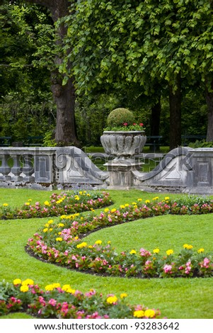 Detail from Mirabel garden in Salzburg city
