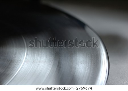 detail from pick-up disc - stock photo