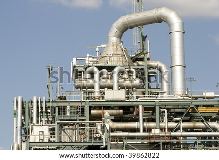 Detail from power plant in Berlin - stock photo