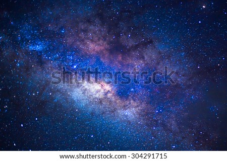 detail from the milky way, long speed exposture - stock photo
