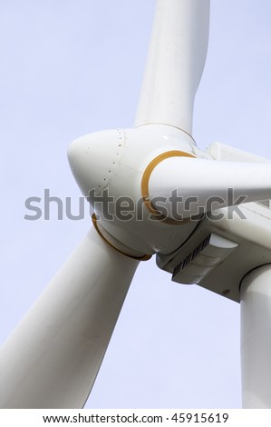 detail from the top of a windmill - stock photo