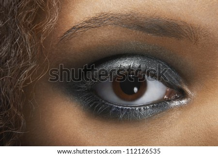 Detail image of young woman's eye