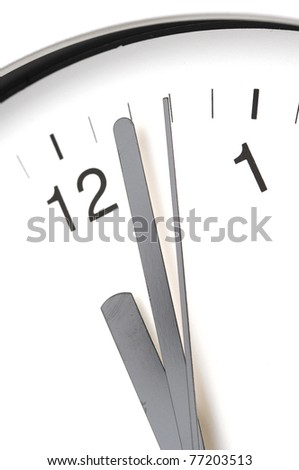 detail in close-up of a modern office clock - stock photo