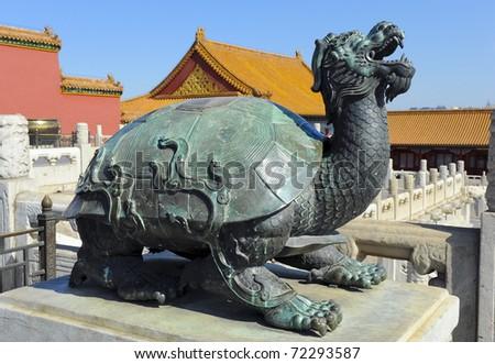 Detail Forbidden City China Turtle Symbol Stock Photo 72293587