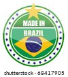 detail Made in brazil seal isolated over white - stock vector