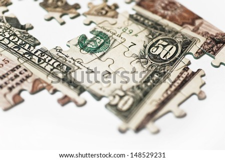 Detail of a Banknote Puzzle