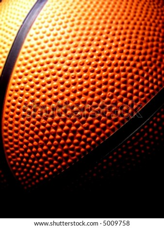 detail of a basketball