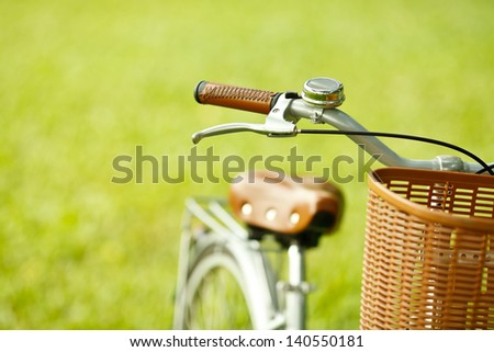 Detail of a Bicycle - stock photo