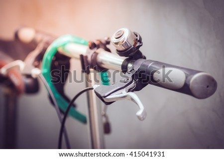 Detail of a Bicycle Handlebar